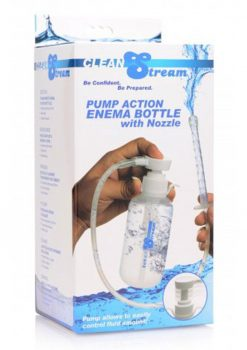 Clean Stream Pump Action Enema With Bottle Clear