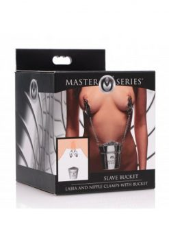 Master Series Slave Bucket Labia And Nipple Clamps With Bucket