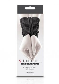 Sinful Nylon Rope 25ft - Black