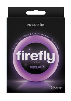 Firefly Halo Medium Silicone Cock Ring Purple