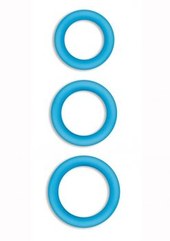 Firefly Halo Large Silicone Cock Ring Blue