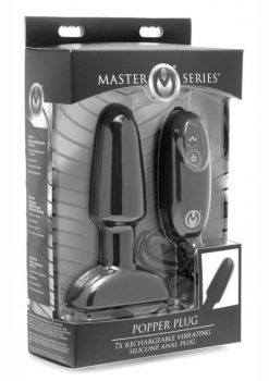 Master Series Popper Plus 7X USB Rechargeable Vibrating Silicone Large Anal Plug With Wired Remote