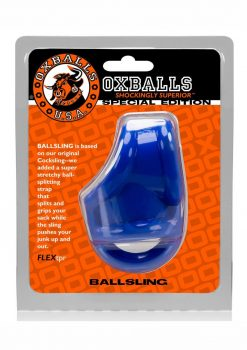 Ballsling With Ballsplitter Cockring Police Blue
