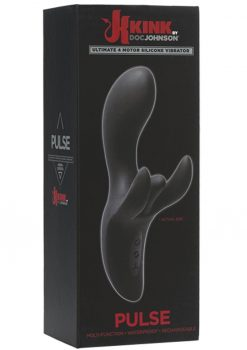 Kink Pulse Ultimate 4 Motor Silicone USB Rechargeable Vibrator Waterproof Black 7 Inch