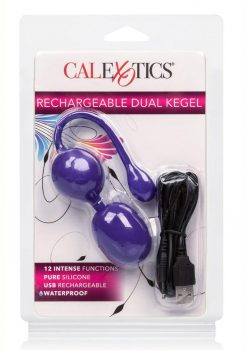 Rechargeable Dual Kegel Silicone Rechargeable Waterproof Purple