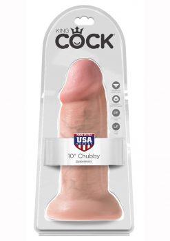 King Cock Realistic Chubby Dildo Flesh 10 Inch
