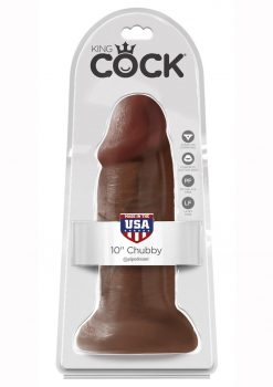 King Cock Non Vibrating Chubby Brown 10 Inches