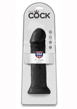 King Cock Realistic Dildo Black 11 Inch