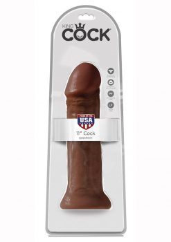 King Cock Realistic Dildo Brown 11 Inch