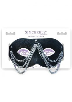 Sincerely Sportsheets Chained Lace Mask Black