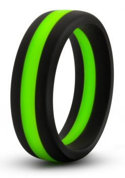 Performance Silicone Go Pro Cock Ring Black/Green 1.5 Inch Diameter