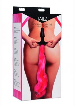 Tailz Pony Tail Silicone Anal Plug Hot Pink
