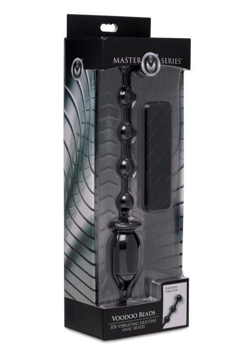 Master Series Voodoo Beads 10x Vibrating Anal Beads Black