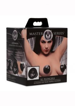 Master Series XL plungers Extreme Suction Nipple Suckers Black