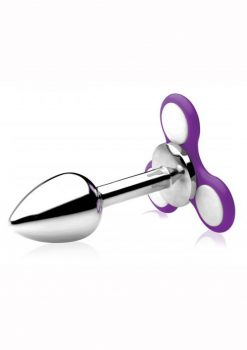 Frisky Ass Spinner Light Up Fidget Spinner Anal Plug Stainless Steel 5 Inch