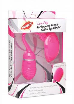 Frisky Luv Pop Rechargeable Remote Control Egg Vibrator Pink