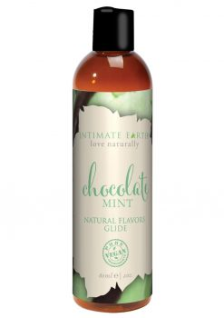 Intimate Earth Natural Flavors Glide Chocolate Mint 2oz