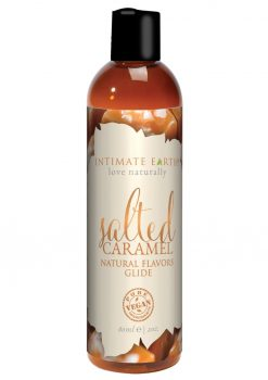Intimate Earth Natural Flavors Glide Salted Caramel 2oz
