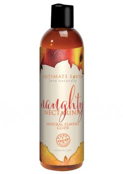 Intimate Earth Natural Flavors Glide Naughty Nectarines 4oz