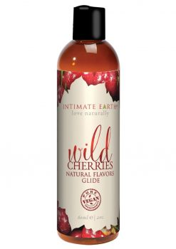 Intimate Earth Natural Flavors Glide Wild Cherries 2oz