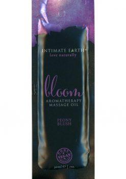 Intimate Earth Bloom Aromatherapy Massage Oil Peony Blush 1oz