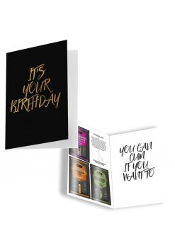 Naughty Notes Greeting Card Its Your Birthday With Lubricants