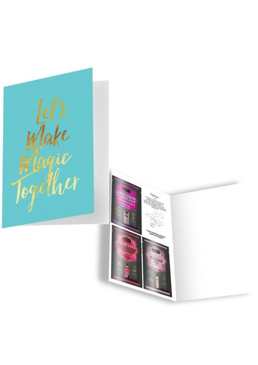 Naughty Notes Greeting Card Lets Make Love Together With Lubricants