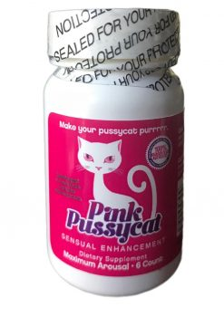 Pink Pussycat Sensual Enhancement Pills 6 Counts Per Bottle