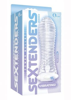 The 9`s Vibrating Sextenders Ribbed Clear 5.5 Inches