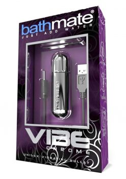 Bathmate Vibe Unisex Vibrating Bullet Rechargeable Waterproof Chrome