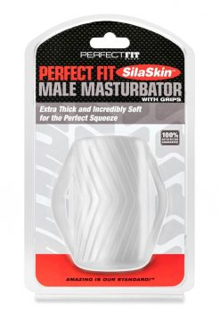 Perfect Fit Male Maturbator With Grips SilaSkin - Clear