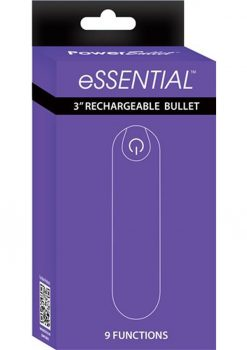 Essential Power Bullet Rechargeable Waterproof Purple