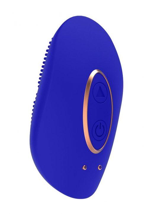 Elegance Precius Mini Clitoral Stimulator Silicone USB Magnetic Rechargeable Vibe Waterproof Blue 2.51 Inch