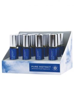 Pure Instinct Pheromone Infused Fragrance Oil True Blue Roll-On 0.34 Ounce Bottles 12 Bottles Per Display