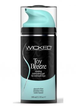 Wicked Toy Breeze Cooling Lubricating Gel  Water Based For Intimate Toys 3.3 Ounce