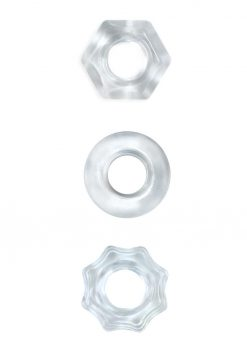 Renegade Chubbies Set Clear Non-Vibrating Cock Rings