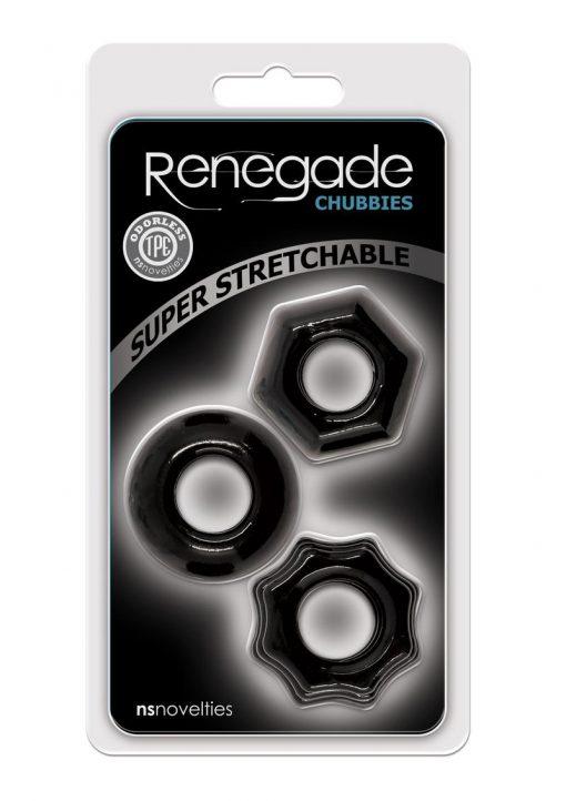Renegade Chubbies Set Black Non-Vibrating Cock Rings