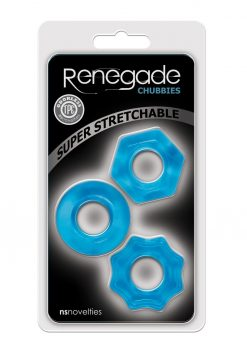 Renegade Chubbies Set Blue Non-Vibrating Cock Rings