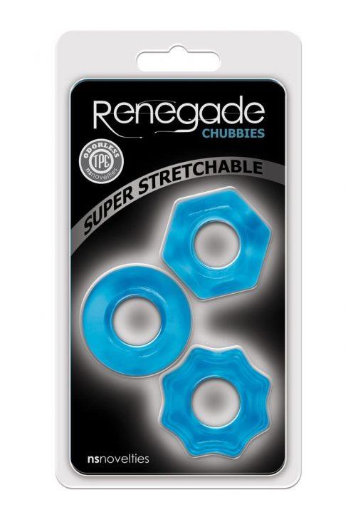 Renegade Chubbies Set Blue Non-Vibrating Cock Rings