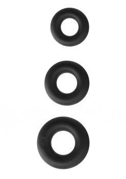 Renegade Super Soft Power Rings Set Black Silicone Non-Vibrating Cock Rings