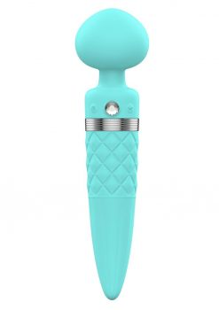 Pillow Talk Sultry Dual Ended Warming Massager Wand Teal