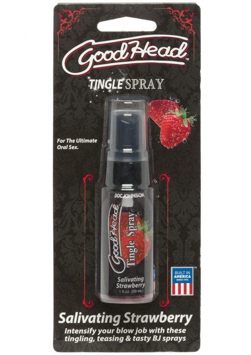GoodHead Tingle Spray Salivating Strawberry 1 Ounce