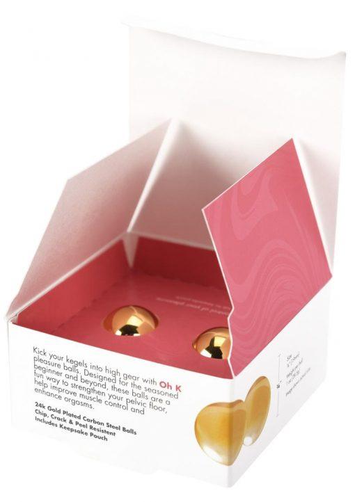 CG Oh K 24k Gold Plated Pleasure Balls Set Kegal and Pelvic Exerciser