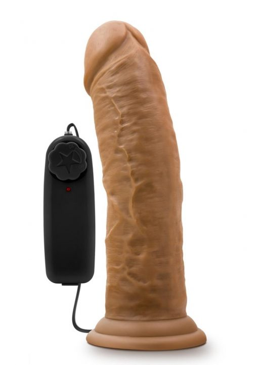 Dr Skin Dr Joe Dildo 8in Vibrating With Wired Remote - Caramel