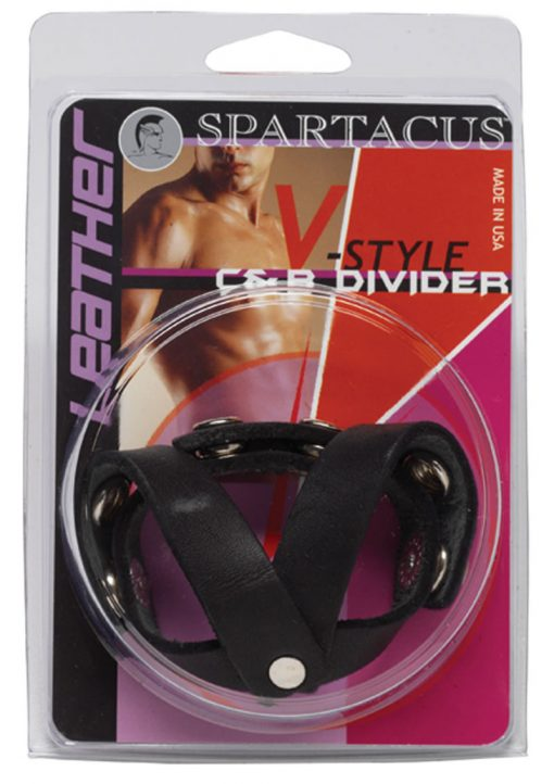 C And B Divider Oiltan V Style Ball Divider Leather Black