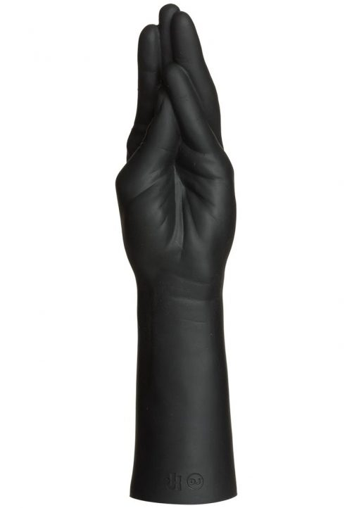 Kink Fist Fuckers Stretching Hand Dual Density Silicone Probe Black 11.5 Inch