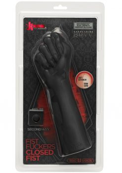 Kink Fist Fuckers Closed Fist Dual Density Silicone Probe Black 10 Inch
