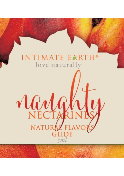 Intimate Earth Natural Flavors Glide Naughty Nectarines 3ml