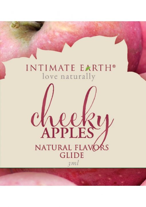 Intimate Earth Natural Flavors Glide Cheeky Apples 3ml