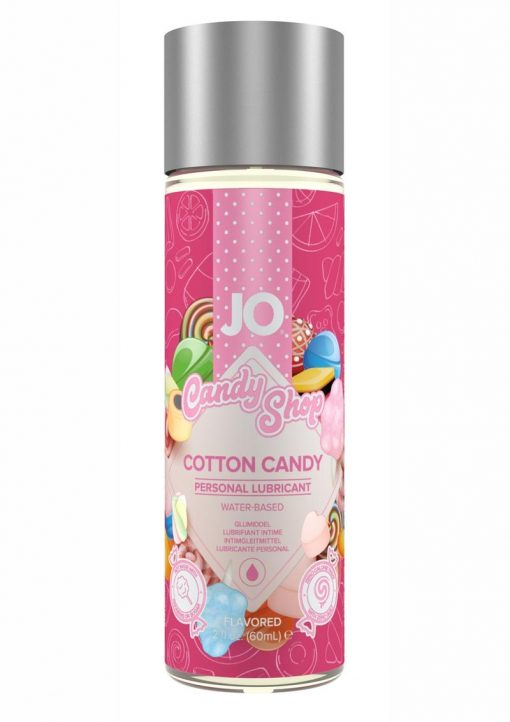 Jo Candy Shop Water Based Flavored Lubricant Cotton Candy 2 Ounce